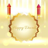 Schöner Hintergrund von Diwali vektor
