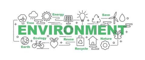 Umwelt Vektor Banner