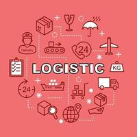 logistiska minimala konturikoner vektor
