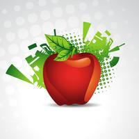 Vektor Apfel Hintergrund