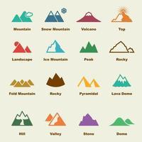 Bergvektorelemente vektor