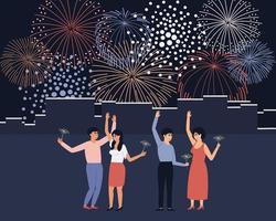 Feuerwerk beim Stadtfest vektor