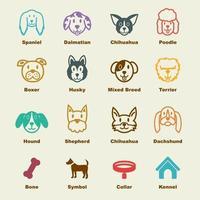 Hundevektorelemente vektor