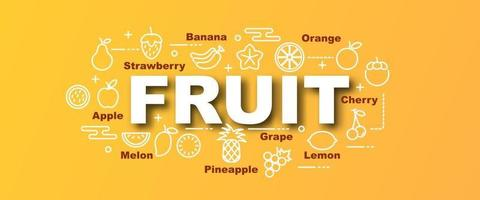 Fruchtvektor trendiges Banner vektor