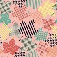 abstraktes nahtloses Muster mit Ahornblättern vektor