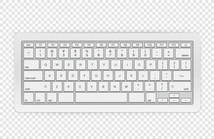 moderne kabellose Tastatur isoliert vektor