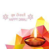 Diwali Gruß Hintergrund vektor