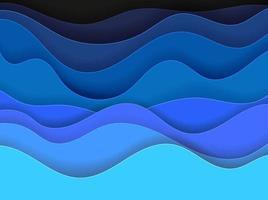 abstrakter Vektorhintergrund der blauen Wellen vektor
