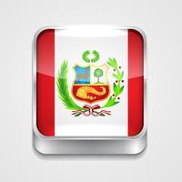 Flagge von Peru vektor