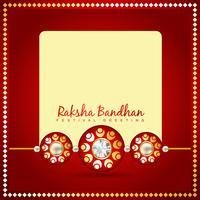 schöner rakhi hintergrund vektor
