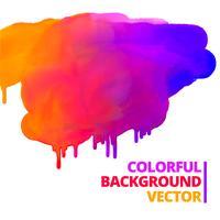 flöde av färgfärger bläckstänk vektor design