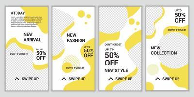trendig redigerbar uppsättning mall för sociala nätverk berättelser och inlägg. design bakgrunder för marknadsföring varumärke mode. mega stor försäljning. layoutmall för digital marknadsföring. vektor illustration