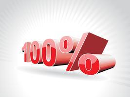 Vektor hundert Prozent