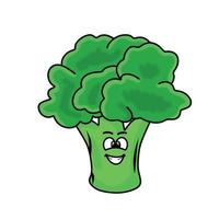 söt broccoli karaktär vektor mall design illustration