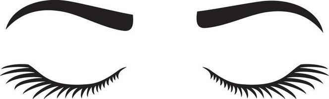 Wimpern der Frau mit Augenbrauenvektorillustration vektor