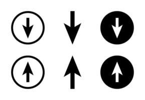 Pfeil nach oben und unten Design frei Vektor setzen