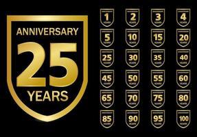 årsdagen firande logotyp uppsättning design vektor