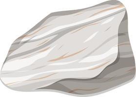 Marmorfelsen oder metamophischer Felsen lokalisiert auf weißem Hintergrund vektor