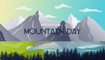 Berglandschaft. internationaler Bergtag. Vektorillustration mit einem Gradienten vektor