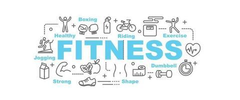 fitness vektor banner