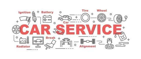 Autoservice Vektor Banner