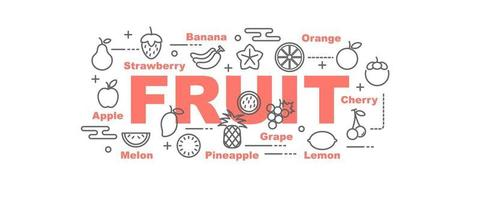 frukt vektor banner