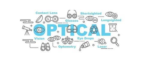 optisk vektor banner