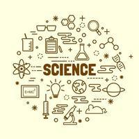 vetenskap minimal tunn linje ikoner set