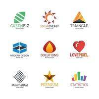 abstraktes Logo-Design vektor