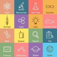 vetenskap kontur design