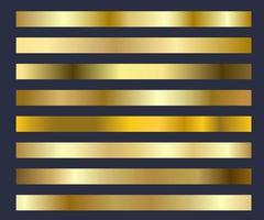 Gold Hintergrund Textur Vektor Set Icon Muster. glänzendes, Metallfolie abstraktes goldenes Farbverlaufsset. Designrahmen, Band, Banner, Münze und Etikett. Illustration - Vektor