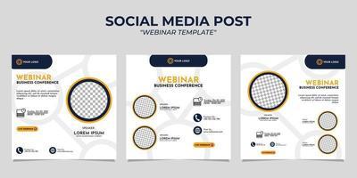 Vorlagen für Social-Media-Story-Post-Webinare vektor