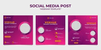 sociala medier berättelse post webinar mallar vektor