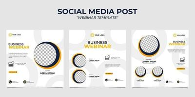 Webinar für Social-Media-Story-Post-Vorlagen vektor
