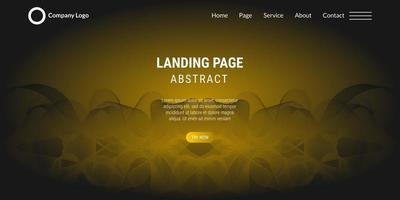 Landingpage der abstrakten Hintergrundwebsite mit gelben Wellenlinien vektor