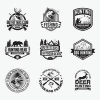 Jagdabzeichen. Logos Vektor Design-Vorlagen