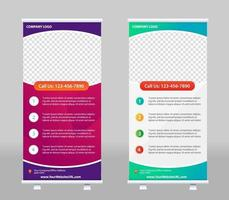 Roll Up Banner Stand Template Design vektor