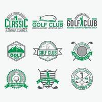 Golf Club Logo Abzeichen Vektor-Design-Vorlagen gesetzt vektor