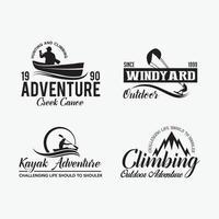 Abenteuer Abzeichen Logos Vektor-Design-Vorlagen vektor