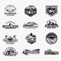 äventyr emblem logotyper vektor designmallar