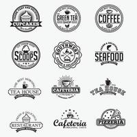 vintage restauranger märken och logotyper vektor designmallar