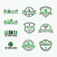 Tennis Club Logo Abzeichen Vektor-Design-Vorlagen vektor