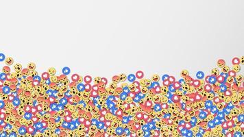 sociala nätverk reaktioner ikon bakgrund, vektorillustration vektor