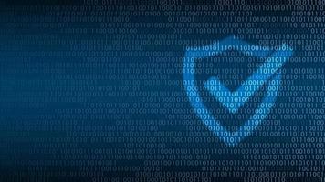 Cyber-Technologie-Sicherheit, Schild auf digitalem Bildschirm, Netzwerkschutz-Hintergrunddesign, Vektorillustration vektor