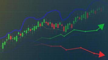 Grafik oder Diagramm des Börsen- oder Devisenhandels, Hintergrunddesign des Markt- und Finanzinvestitionskonzepts, Vektorillustration vektor