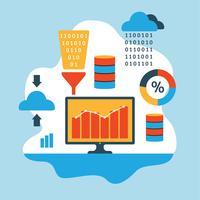 Flache Illustration des Data Mining vektor