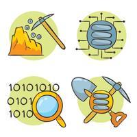 Hand gezeichneter Datenbergungs-Vektor