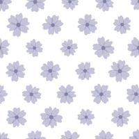 hübsche Blumen auf weißem Hintergrund vektor