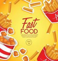Fast Food leckere Design-Vorlage vektor