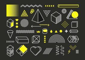 Vektor-Design-Elemente Vektorsatz. trendige grafische Elemente vektor